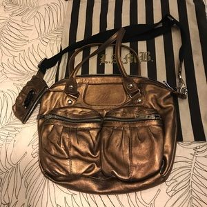 L.a.m.b buttery soft bronze leather Chatham bag